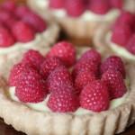 Lemon Tarts with Raspberries