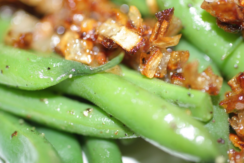 Green Beans and Caramelized Shallots
