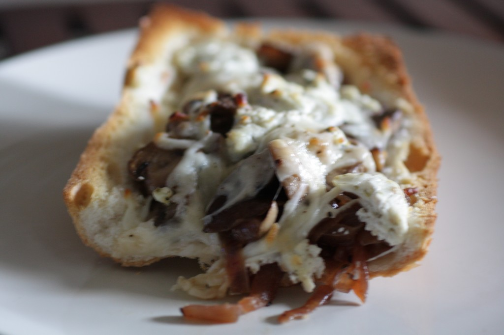 Mushroom &amp; Onion Stuffed Pizza