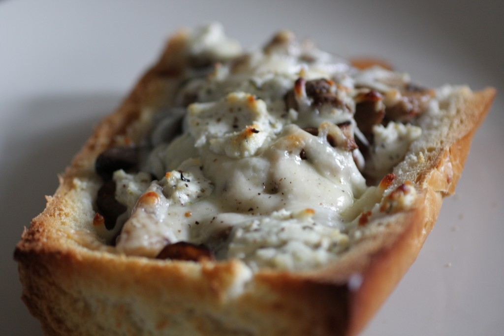 Mushroom & Onion Stuffed Pizza