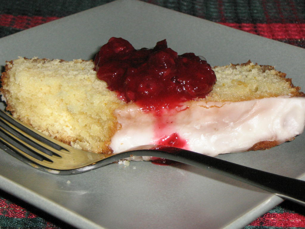lemon loaf with fruit preserves