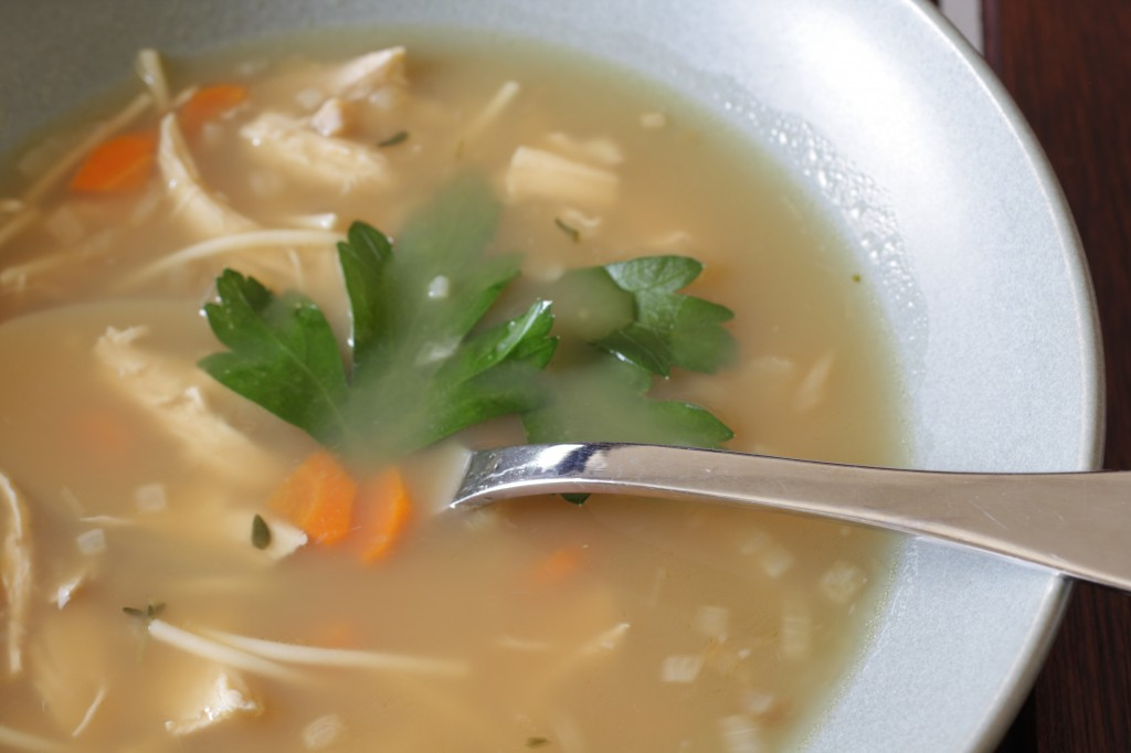 homemade chicken soup in a hurry